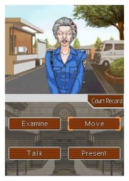 Screenshot of both screens of Phoenix Wright: Ace Attorney.