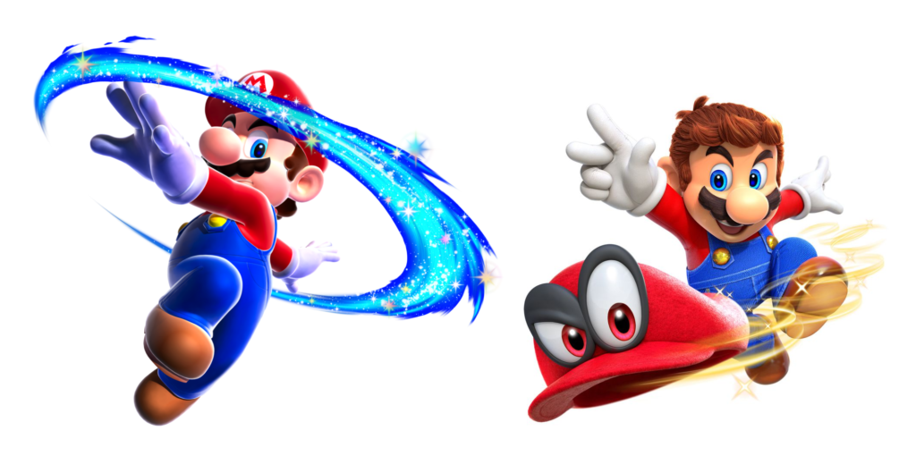 An attack enabled by a cute mascot character who rides around on Mario's head? It's a new spin on an old idea.