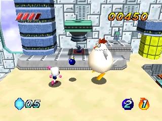 Here we see the Bomberman stalking his prey...